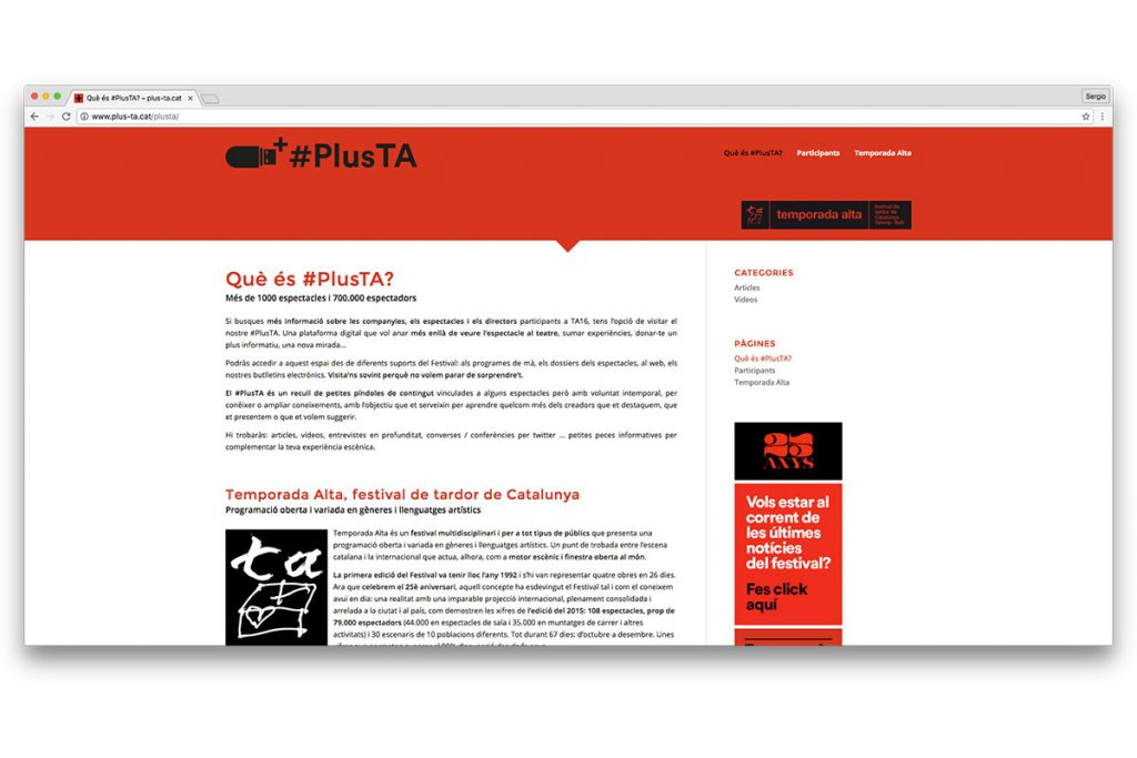 captura desarrollo corporativo de blog